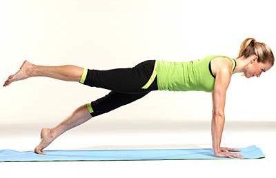 One-legged plank