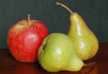 洋ナシとリンゴ