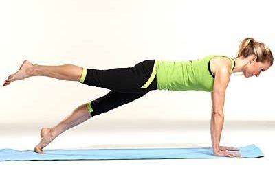 One-legged plank