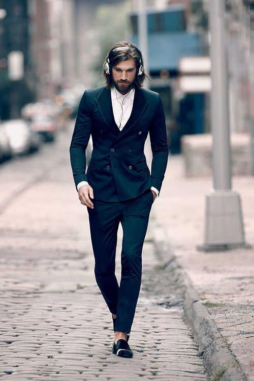 大胸筋 胸板 スーツ ノーネクタイ